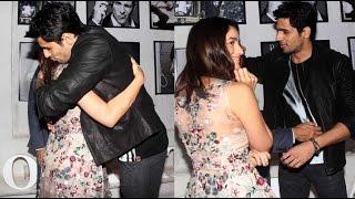 Alia Bhatt Hugs Siddharth Malhotra At Dabboo Ratnani Calendar 2016 Launch Event