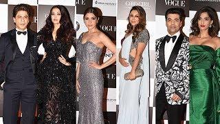 Vogue Women Of The Year Awards 2017 Red Carpet   Full HD Video   Shahrukh Khan, Aishwarya, Anushka