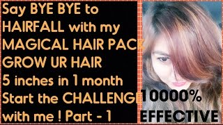 STOP HAIR Fall in 1 day | My MAGIC CURE for HAIR Fall & DANDRUFF | MIRACLE HAIR GROWTH pack - Part-1