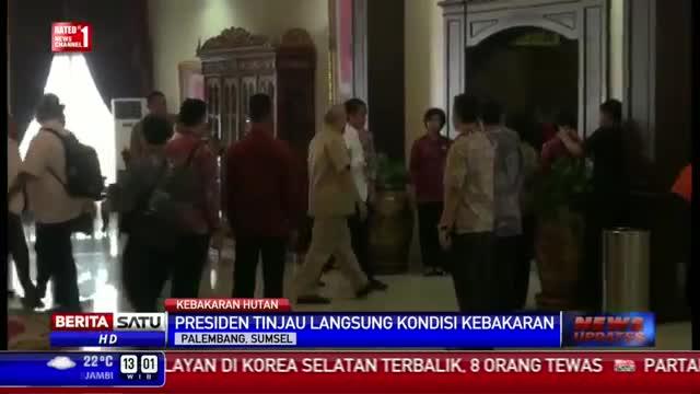 Jokowi Rapat Tertutup Bahas Kebakaran Lahan