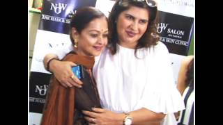Jackie Shroff & his wife attends the inauguration of new natural salon