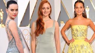 Oscar Awards 2016 - Stars Arrive At The 2016 Oscar Awards - Daisy Ridley, Alicia Vikander And More