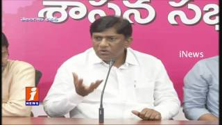 TRS MP Vinod Press Meet on New Districts formation | iNews