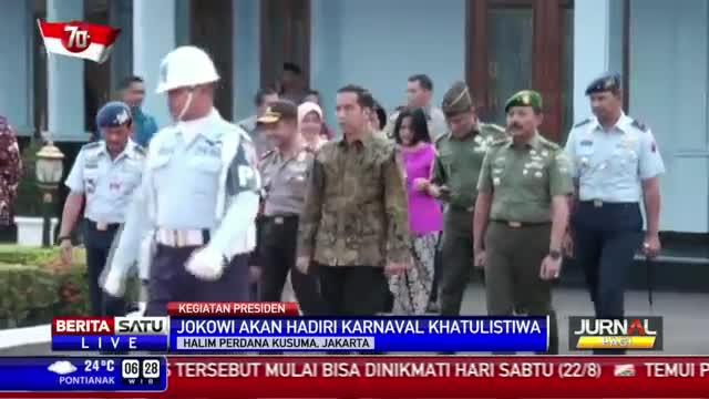 Jokowi ke Pontianak Buka Karnaval Khatulistiwa