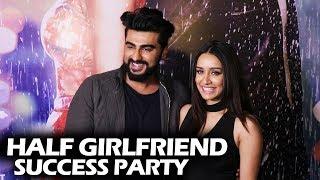 Arjun Kapoor And Shraddha Kapoor At Half Girlfriend SUCCESS PARTY