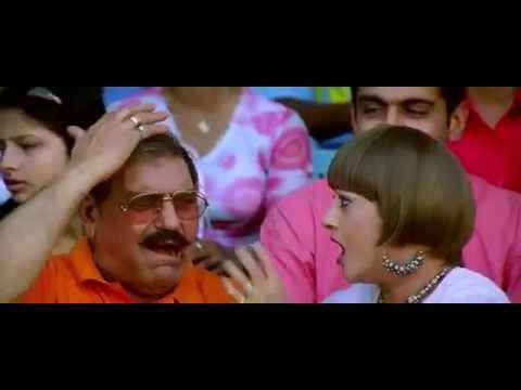 Mike hits Amrish Puri - Mujhse Shaadi Karogi - Bollywood Movie Comedy Scene