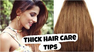 Thick Hair Care Tips- To Stop Hair Loss And Increase Hair Growth, Volume/ Healthy Hair Care Routine