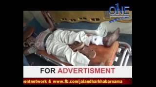 sodal saipur road par accident | truck ne vyakti ko maaari takkar | truck driver faraar