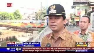 Kali Ciliwung di Kwitang Nampak Bersih dari Lumpur