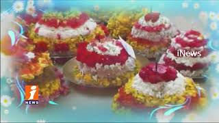 Women's Celebrations Bathukamma Festival In Telangana | iNews