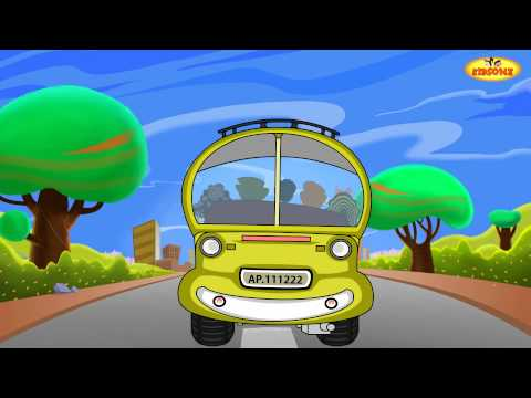 Wheels On The Bus - English Animated Rhymes - Nursery Rhymes For Kids