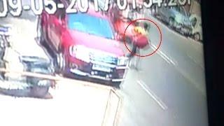 पूर्व सांसद की गाड़ी से बैग ले उड़ा चोर, CCTV में कैद हुई वारदात