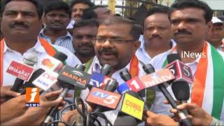 T Congress Leaders Protest Against Amit Shah Son Jay Shah Assets In Hanmakonda | iNews