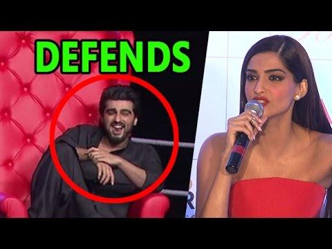AIB Knockout- Sonam Kapoor DEFENDS Arjun Kapoor | LehrenTV