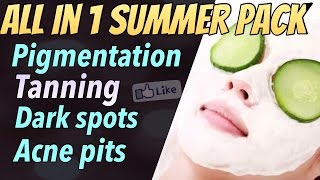 Get Glowing Fair Spotless Skin Fast (Summer Special) | Best Face Pack For Dry/ Dull Skin