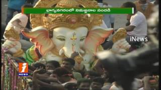 Ganesh Idols Queue Up For Immersion at Telugu Talli Flyover   iNews