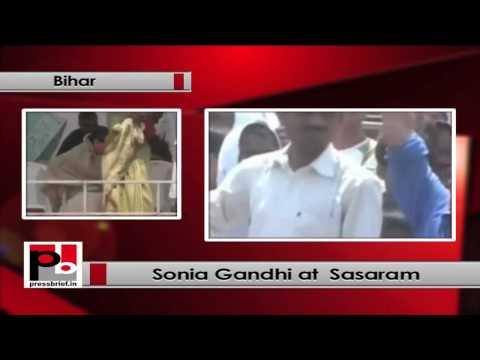 Sonia Gandhi at Sasaram (Bihar)