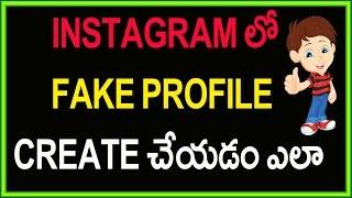 How To Create Instagram Fake Account   Prank   Telugu