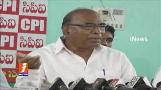 CPI Chada Venkat Reddy Slams Modi and KCR   Karimnagar   iNews