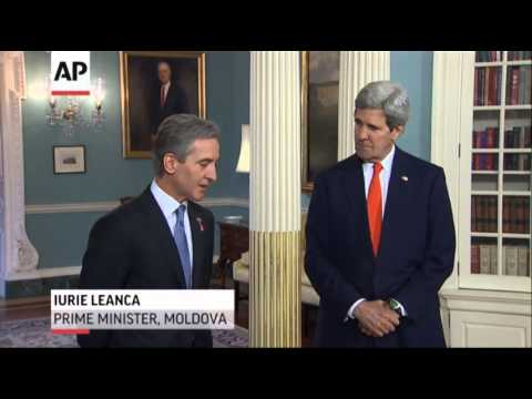 Kerry Meets Moldovan PM, Heads Later to Ukraine News Video