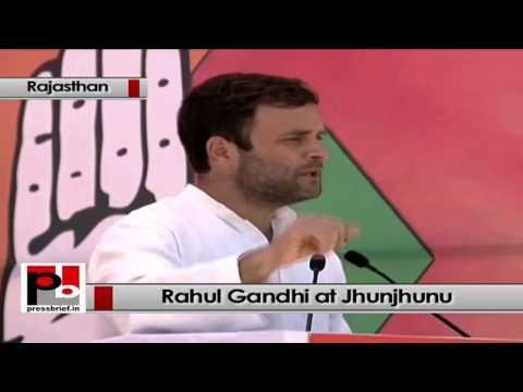 Rahul Gandhi at Jhunjhunu (Rajasthan)- BJP blindly copied Congress manifesto