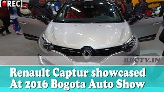 India bound Renault Captur showcased at 2016 Bogota Auto Show || Latest automobile news updates