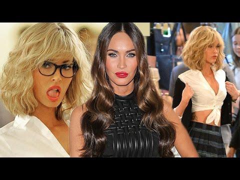 Megan Fox In a Blonde Wig & Schoolgirl Outfit - Must See