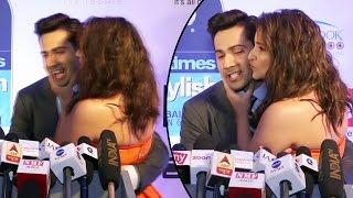 Parineeti Chopra KISSES Varun Dhawan In Public At HT Most Stylish Awards 2017