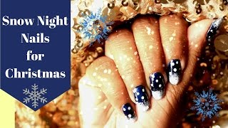 SNOW NIGHT NAILS