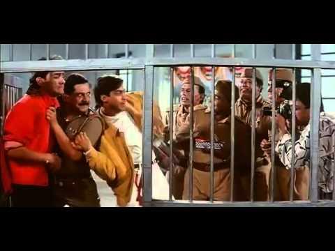 Aamir cuts the ribbon at police station - Andaz Apna Apna - Bollywood Movie Comedy Scene