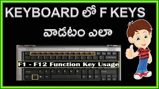 Use of Keyboard Function keys F1 to  F12 | Keyboard Shortcuts in Telugu