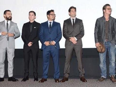 Brad Pitt Surprises Fans at 'Fury' Screening News Video