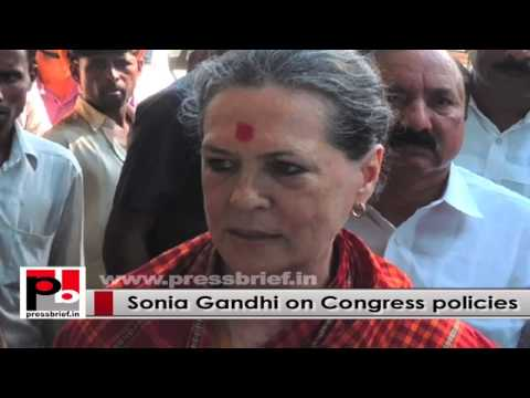 Sonia Gandhi's main focus, a country which is free from poverty