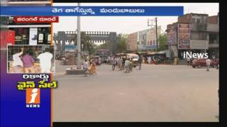 Record Level Business For Liquor in Summer | Warangal | iNews