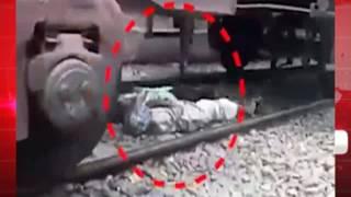 रेल पटरियों के बीच में सोते रहे लोग ऊपर से गुजरती रही माल गाड़ी