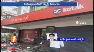 IT Employee Hulchul In Private Bank, Threaten Bank Staff With Knife In Secunderabad | iNews
