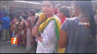 Huge Devotees Throng In Yadadri Sri Lakshmi narasimha Swamy Temple | iNews