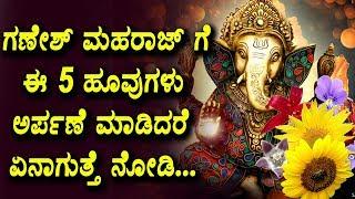 ಗಣೇಶ್ ಮಹರಾಜ್ ಗೆ ಈ 5 ಹೂವುಗಳು ಅರ್ಪಣೆ ಮಾಡಿದರೆ ಏನಾಗುತ್ತೆ ನೋಡಿ | 5 flowers for Ganesha