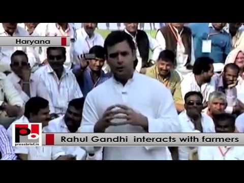 Rahul Gandhi interacts with Haryana farmers, says Congress wants to empower farmers