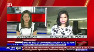 IHSG Ditutup Menguat 5,2 Poin