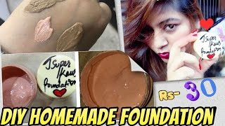 DIY Homemade Foundation   How to Make Liquid Foundation at Home   Result in Live Video