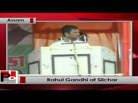 Rahul Gandhi at Silchar, Assam
