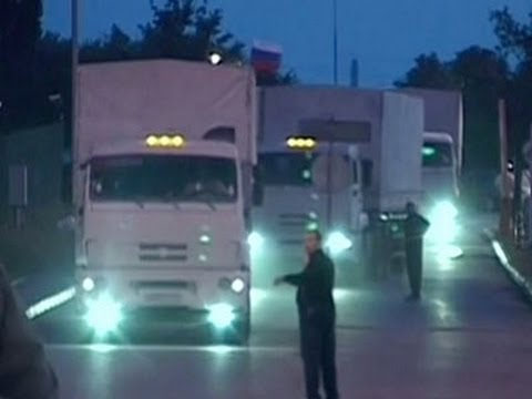 Raw- Reported Russian Aid Arrives in Ukraine News Video