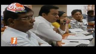 GHMC Mayor Vs GHMC Officials |Inspections on Illegal Construction &Development Works| Loguttu| iNews