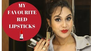MY FAVOURITE RED LIPSTICKS | MAKEUP AND FASHION DIARIES
