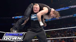 Brock Lesnar, Dean Ambrose and Wyatt Family all go to war: SmackDown