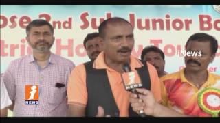 Golfer Mukesh Kumar Starts State Level Sub Junior Hockey Tournament in Kothagudem   iNews
