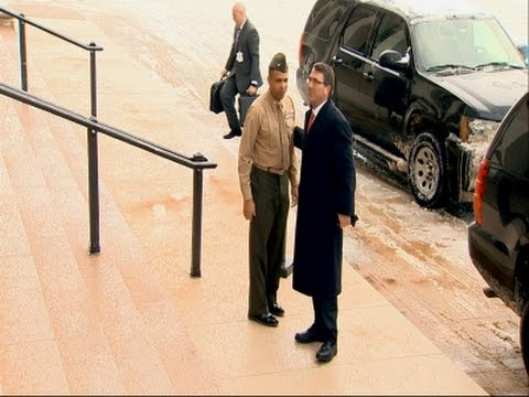 Ash Carter Arrives at Pentagon for First Day News Video