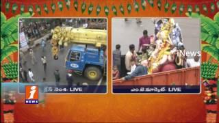 Hyderabad Ganesh Shobha Yatra Started at MJ Market | Live Updates | iNews
