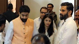 Abhishek & Aishwarya Rai Bachchan At Suniel Shetty's Father's Prayer Meet